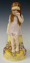 A Royal Doulton figure - ''Upon Her Cheeks She Wep