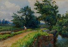 E.A Chadwick - Fishing Off A Bridge, a summer land
