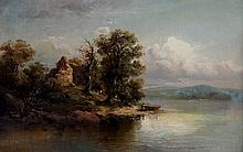 Max Sinclair - a Scottish loch scene with ruins am