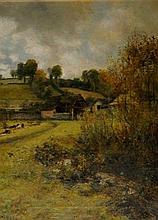Charles James Fox (b.1860) - a farmyard scene, wit