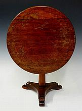 A miniature tripod table in William IV style the c