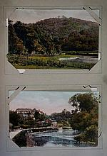A post card album containing large quantity of Eng