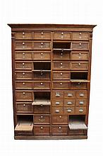 A large continental pine shop cabinet fitted large