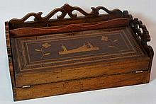 A 19th Century Continental writing box with pierce