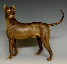 A large Austrian cold painted bronze model