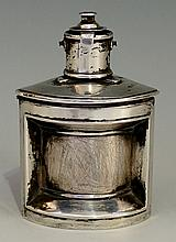 An unusual silver inkwell in the form of a ship's lantern, by Lawrence Eman