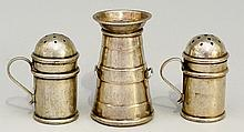 An Edwardian novelty pepper pot in the form of a milk churn, by H J Cooper