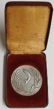 A silver medallion - National Federation of Anglers: National Angling Champ