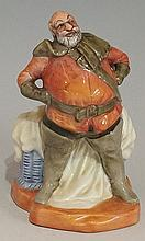 A Royal Doulton figure - Falstaff, designed by Cecil Noke, 10cm high, print