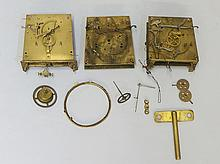 A continental clock movement inscribed DR patent, numbered 125605 and 48146