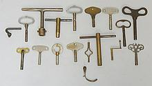 A small quantity of clock keys