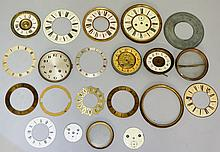 A quantity of clock faces and chapter rings