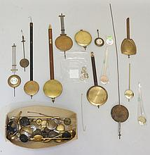 A quantity of clock pendulums