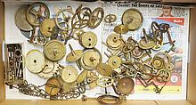 A quantity of clock cogs etc.