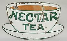 Advertising - an enamel sign: Nectar Tea, large version, the base printed P