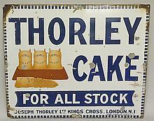 Advertising - an enamel sign: Thorley Cake, For All Stock, Joseph Thorley L
