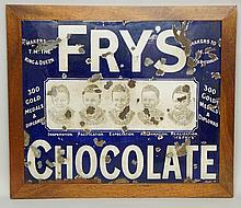 Advertising - an enamel sign: Frys Chocolate, Makers TM The King and Queen,