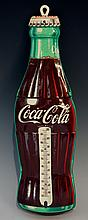 Advertising - Coca Cola, an American bottle advertising thermometer, the ba