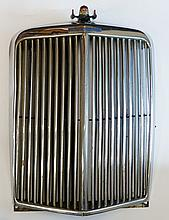 Advertising - Armstrong Siddeley, a chromium plated radiator grill with mas