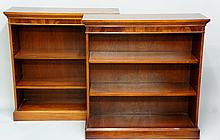 A pair of reproduction mahogany bookcases by Bradley Furniture Ltd, George