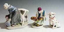 A Royal Copenhagen figure of a milkmaid and calf, 16cm high, painted mark i