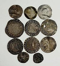 Coins, Great Britain, Hammered Silver, Edward VI, Sixpence (holed); Elizabe