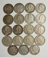 Coins, Great Britain, Silver Halfcrowns, Victoria, Young Head 1876, 87, Jub