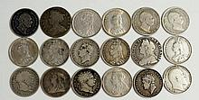 Coins, Great Britain, Silver Shillings, Anne 1711; George II 1741; George I