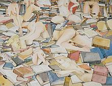 Patrick O'Dempsey ? - Quixalots Dreams, watercolour, initialled lower left