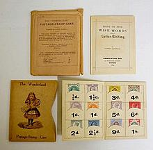 Lewis Carroll - The Wonderland Postage Stamp Case, containing stamps from 1