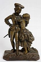 French School, mid 19th Century - Her Gallant Hero, modelled as a soldier p