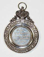 A Dutch silver coloured metal medallion the centre inscribed and dated 2nd