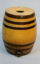 A Victorian salt glazed Doulton & Co., Lambeth spirit barrel of conventiona