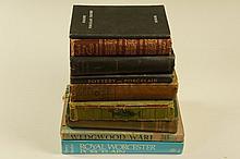 Nine books including: Henry Sandon - Royal Worcester Porcelain, W. B. Honey