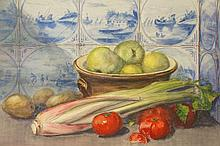 H.J.Smith - a quantity of still life watercolours of fruit, vases, bowls etc.