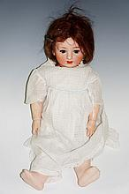 A very rare German Revalo doll made by Gebruder Ohlhaver,  the bisque head