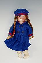 A Good quality French SFBJ schoolgirl doll, mold number 60, bisque head , f