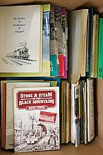 A large quantity of railway pamphlets, soft back books etc., including P.W.