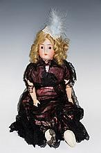 An Alt Beck & Gotschalck antique doll, bisque head with closing eyes, mold