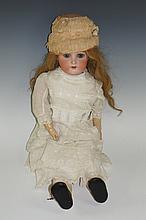 A Simon & Halbig / Kammer & Rheinhart doll, bisque head with flip back eyes