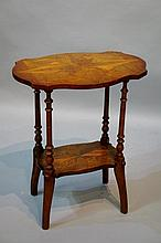 A rare Victorian New Zealand specimen wood table the shaped serpentine top