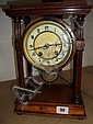 MAHOGANY CASED MANTLE CLOCK WITH FRENCH MOVEMENT