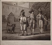 Book - Carton de 15 gravures in-folio du XVIII° siècle d'après Vernet, Boilly etc.