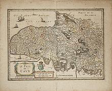 Book - NORMANDIE. 9 cartes anciennes de format in-folio ou in-plano dont celle de