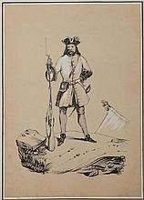 Book - ALBUM AMICORUM. In-4 oblong, maroquin violine , 38 planches (dessins aquare