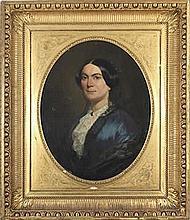 Charles LANDELLE (Laval 1812 - 1908). Paire de portraits.