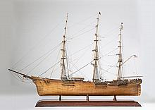 LARGE SAILOR-MADE MODEL OF THE CLIPPER SHIP