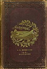 AUTOGRAPH BOOK OF AMERICAN HISTORICAL AND POLITICAL INTEREST, CIRCA 1858.