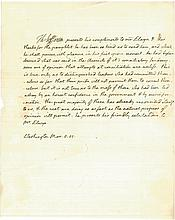 THOMAS JEFFERSON, PRESIDENT OF THE UNITED STATES. LETTER TO THOMAS ELWYN OF PORTSMOUTH, WASHINGTON, D.C., MARCH 8, 1805.