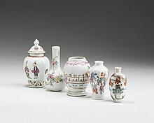GROUP OF CHINESE EXPORT PORCELAIN ENAMELLED MINIATURE WARES, 1745-1800.